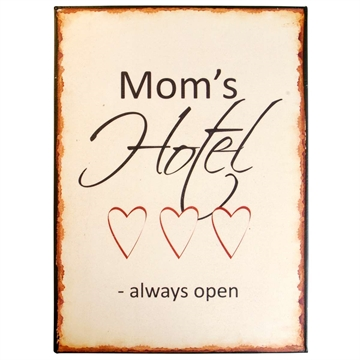 Ib Laursen<br>metalskilt Mom´s Hotel