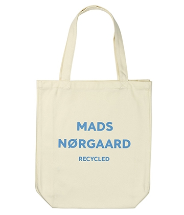 Mads Nørgaard Athene net/bag - Recycled off white/softsky