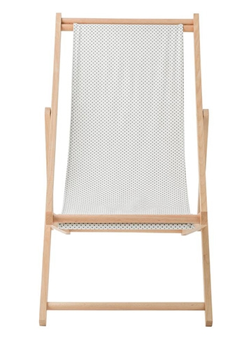 Bloomingville deck chair - white/black dots