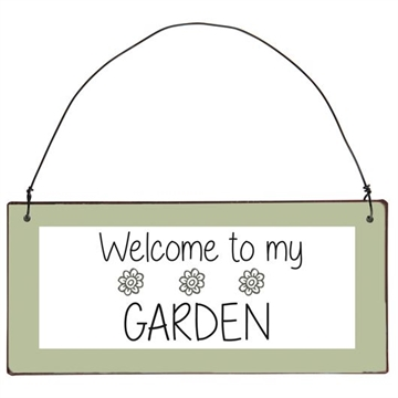 Ib Laursen Metalskilt - Welcome to my Garden