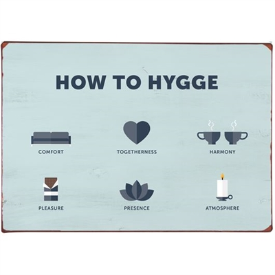 Ib laursen Metalskilt  How to Hygge